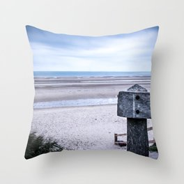 Across the Channel Throw Pillow