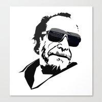 bukowski Canvas Prints featuring Bukowski by BRISTOL NOIR