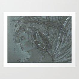 Dark Forest Fairy Art Print