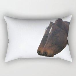 Twin Horses Photography Print Rectangular Pillow