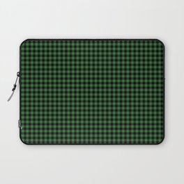 Mini Black and Dark Green Cowboy Buffalo Check Laptop Sleeve