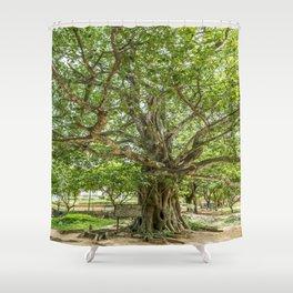"""The """"Magic Tree"""", Killing Fields, Cambodia Shower Curtain"""