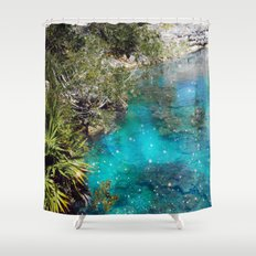 The Blue Lagoon Shower Curtain