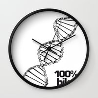 bike Wall Clocks featuring bike 100% by muffa