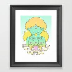 tough luck Framed Art Print