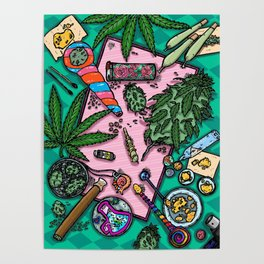 Cannabis Altar I Poster