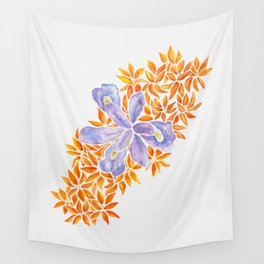 Iris and Butterfly Weeds Wall Tapestry
