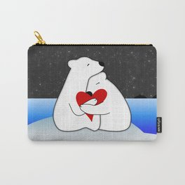 Warm hugs in the cold Carry-All Pouch