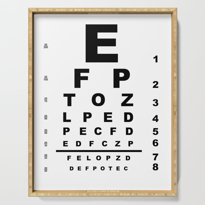 Eye Test Chart Serving Tray By Homestead Society6