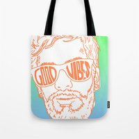 good vibes Tote Bags featuring GOOD VIBES by YTRKMR