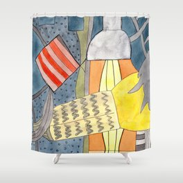 Interior with Two Lamps Shower Curtain