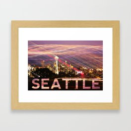Seattle long exposure  Framed Art Print