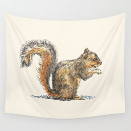Sitting Squirrel Wall Tapestry