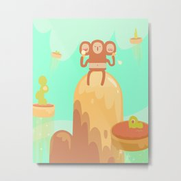 Tu-Mo Enjoys a Frozen Treat in the Floaty Lands Metal Print