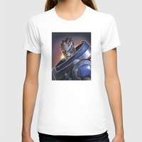 garrus T-shirts featuring Garrus Vakarian Portrait - Mass Effect by MarcoMellark