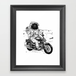 Moon Biker Framed Art Print