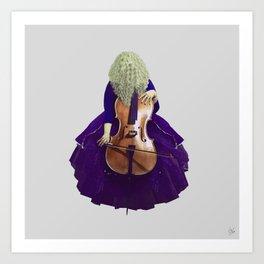 Ultra Blue Cellist Art Print