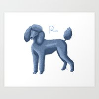 poodle Art Prints featuring Poodle by Amy Titus