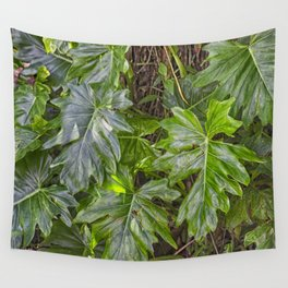 Luscious Green Rainforest Vine Wall Tapestry