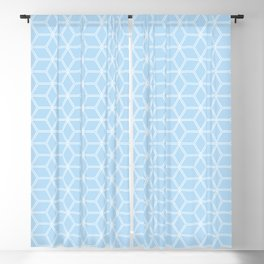 Geometric Hive Mind Pattern - Light Blue #280 Blackout Curtain