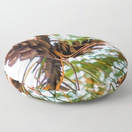 Pine Cone on a Pine Tree Floor Pillow