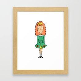Irish Dancer Framed Art Print