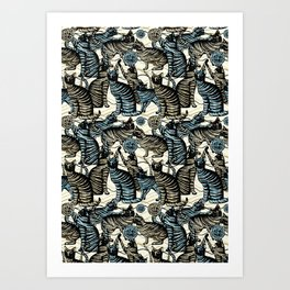 cat play Art Print