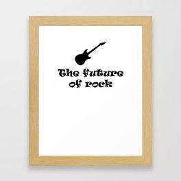 The Future of Rock Framed Art Print