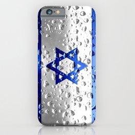 Flag of Israel - Raindrops iPhone Case