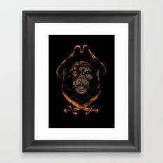 Captain sea monkey Framed Art Print