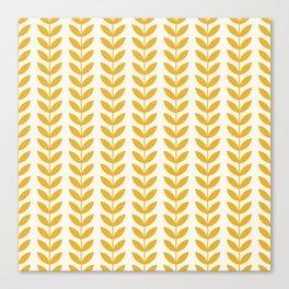 Scandinavian Mid Century Pattern Yellow Canvas Print