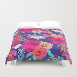 Sweet Pea Fl Blue Duvet Cover