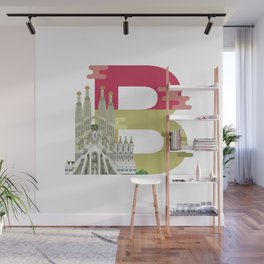 B for Barcelona Wall Mural