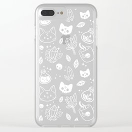 Herb Witch // Black & White Clear iPhone Case
