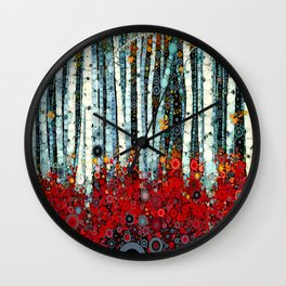 :: Begonia Birch :: Wall Clock
