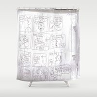 teacher Shower Curtains featuring Angry Teacher by Clinton Morgan Artworks