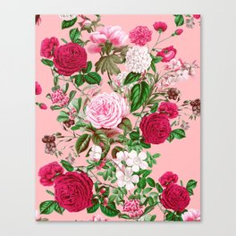 Spring In Bloom Pink Canvas Print
