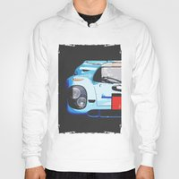 porsche Hoodies featuring Porsche 917  by Barbo's Art
