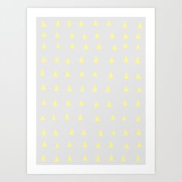 Yellow Houses - Geometric Art Art Print