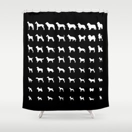 All Dogs (Black) Shower Curtain