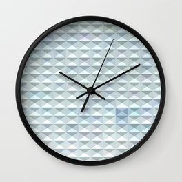 Light Blue Abstract Low Polygon Background Wall Clock