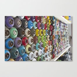 Spray Paint Can Graffiti Wall Covering Canvas Print