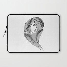 zentangle portrait 6 Laptop Sleeve