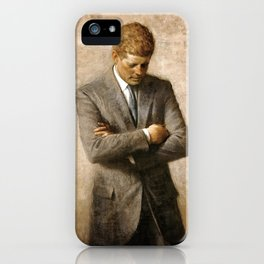 Official Portrait of President John F. Kennedy by Aaron Shikler iPhone Case