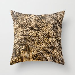 Scratched Copper Throw Pillow