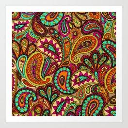 Basic Paisley  Art Print