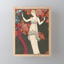 The Tree of Science Fashion Illustration by George Barbier, 1914 Framed Mini Art Print