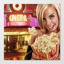 CINEMA POP Canvas Print