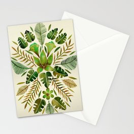 Tropical Symmetry – Olive Green Stationery Cards