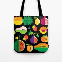 Fruit Medley Black Tote Bag